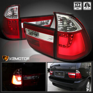 2000 2006 Bmw E53 X5 Red Lens Led Rear Brake Lamps Tail Lights Left Right