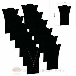 12 Piece Necklace Display Black Velvet 5 1 2 Padded Pendant Easel Presentation
