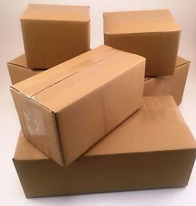 100 4x4x4 Corrugated Cardboard Shipping Boxes packing cartons mailing moving
