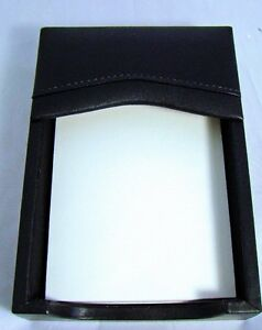 Bey Berk Memo Pad Paper Holder Genuine Leather Black Desk Accessory Mib