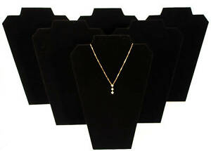6 Black 13 Velvet Necklace Pendant Jewelry Displays