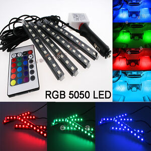 Rgb Color Bar Glow Dash Footwell Interior Light 5050 Led Strip Smd Lamp For Benz