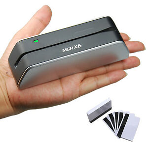 Msr x6 Smallest Magnetic Credit Card Reader Writer Encoder Msr206 606 Swipe