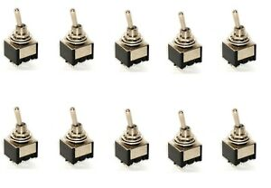 10 Dpst On off Miniature Toggle Switches Two Pole Single Throw