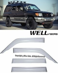 For 92 00 Mitsubishi Montero Wellvisors Side Window Visors Rain Guard