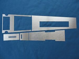 1967 Mustang Brushed Aluminum Automatic Center Console Anodized