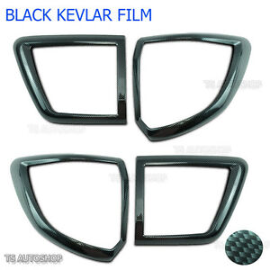 Carbon Back Tail Lamp Light Cover Fit Toyota Fortuner Suv 4x2 2012 13 15