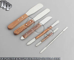 6x Plaster Alginate Mixing Spatula Wax And Modelling Deal Dental Top Quality