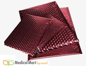 Red Metallic Bubble Mailers 7 X 6 75 Padded Envelopes 250 Pieces Per Case