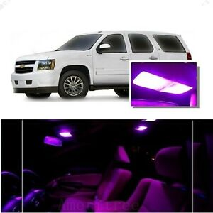 For Chevy Tahoe 2000 2006 Pink Led Interior Kit Pink License Light Led