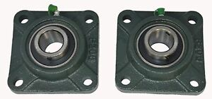 Ucf207 23 1 7 16 Square 4 Bolt Flange Block Mounted Bearing Unit qty 2
