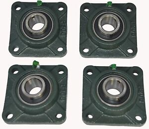 Ucf207 23 1 7 16 Square 4 Bolt Flange Block Mounted Bearing Unit qty 4