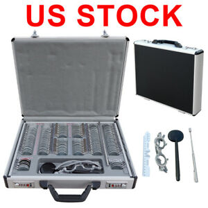 Eco 158 Pcs Optical Trial Lens Set Metal Rim Aluminium Case Free Trial Frame