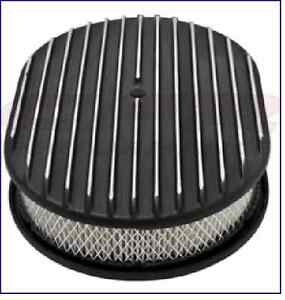 Cfr Perf Chevy Ford Mopar 12 Oval Aluminum Air Cleaner Part Finned Black