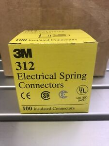 3m 312 Electrical Spring Connectors Case Of 100