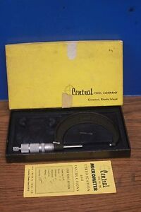 Central Tool Craftsmen Micrometer Model No 32rl 2 3