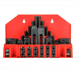 58 Pc Pro series 1 2 T slot Clamping Kit Mill Machinist Set 3 8 16