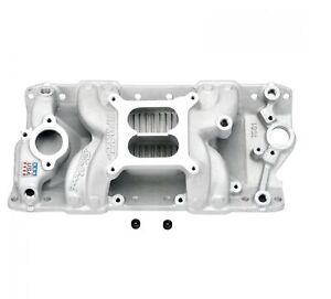 Edelbrock 7501 Rpm Air Gap Intake Manifold For Small Block Chevy 262 400 V8
