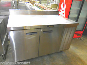 Delfield 18wc52 52 2 Door Stainless Restaurant Work Top Refrigerator Cooler