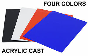 Acrylic Cast Red Blue Black White Plexiglass Sheets 8 25 X 11 5 Choice