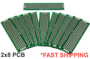 11pc 2x8 Cm Double Side Diy Prototype Circuit Breadboard Pcb Universal Board g