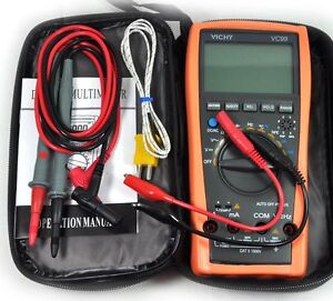 New Vc99 3 6 7 Auto Range Digital Multimeter Thermomete Capacitance Resistance