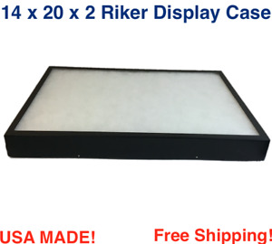 14 X 20 X 2 Riker Display Case Box For Collectibles Jewelry Arrowheads More