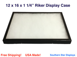 12 X 16 X 1 1 4 Riker Display Case Box For Collectibles Arrowheads Jewelry