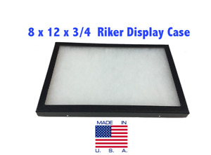 8 X 12 X 3 4 Riker Display Case Box For Collectibles Jewelry Arrowheads more