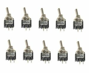 10 On off Spst Mini Toggle Switches