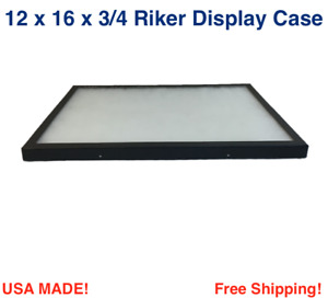 12 X 16 X 3 4 Riker Display Case Box For Collectibles Jewelry Arrowheads More