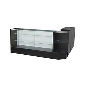 sccombo b Showcase Glass Display Case Check Out Counter Set brand New