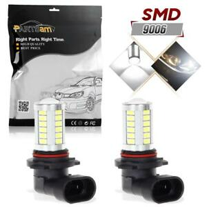 1pair 9006 9006xs Hb5 Ultra Bright White Led Bulbs For Fog Driving Light Lamps