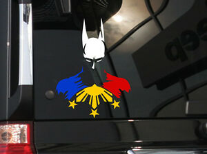 Filipino Vinyl Car Decal Sticker 6 h W Hero Batman And Philippine Flag
