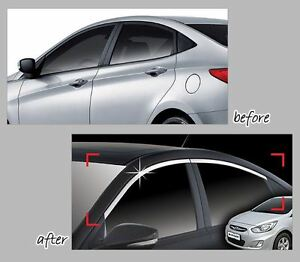 Chrome Upper Window Garnish For Hyundai Accent Solaris 2011 2015