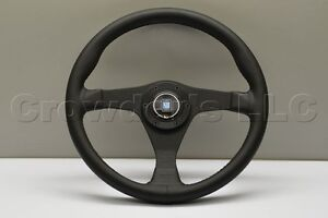 Nardi Gara Steering Wheel 350 Mm W H b Black Leather Black Stitching