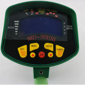 New Md3010ii Metal Detector Lcd With Light Display Yellow Black Green Color