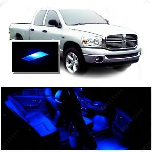 For Dodge Ram 1500 2002 2008 Blue Led Interior Kit Blue License Light Led