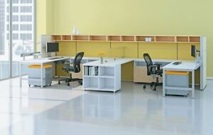 Matrix Modern Collaborative Office Modular Workstation desk table cubicle panels