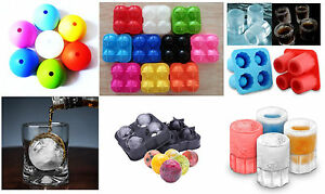 4-Ball Whiskey Ice Cube Maker Mold Sphere Mould Party Round Bar Ice Shot Glasses