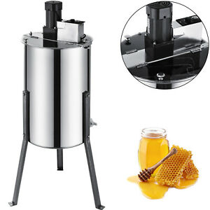 3 6 Frame Electric Bee Honey Extractor Stainless Steel Beekeeping Equipment