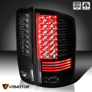 Black 2002 2006 Dodge Ram 1500 2500 3500 Pickup Black Led Tail Lights Left Right