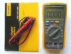 New Fluke Digital Multimeter F18b Led Tester 18b Voltmeter Usa Seller