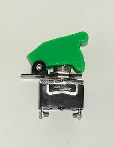 1 Spst On off Full Size Toggle Switch With Green Safety Cover