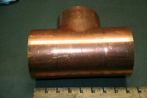 Cello Copper Tee Fitting Coupling 4 1 8