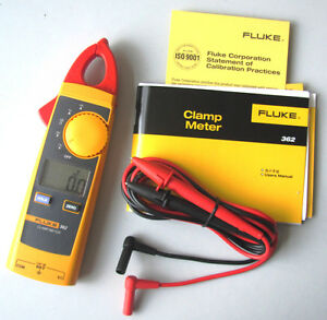 Fluke 362 Handheld Digital Multimeter Clamp Meter Tester Ac dc True rms 200a