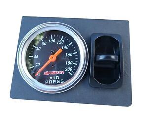 Single Needle Air Gauge Panel 200psi 1 Paddle Switch Control Air Ride Suspension