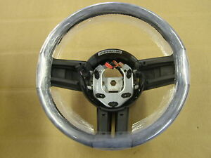 Nos Oem 2010 2013 Ford Mustang Steering Wheel Blue Stiching Leather 2011 2012