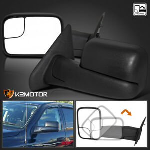 02 08 Dodge Ram 1500 2500 Manual Extend Flip Up Towing Side Mirrors Left right