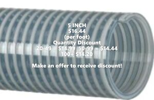 Kanaflex 110 Cl 5 Inch Water Suction Hose Clear Pvc per Foot